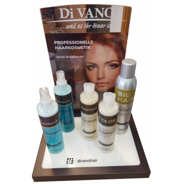 VERKAUFS-DISPLAY für DiVANO-Produkte - ohne Inhalt.