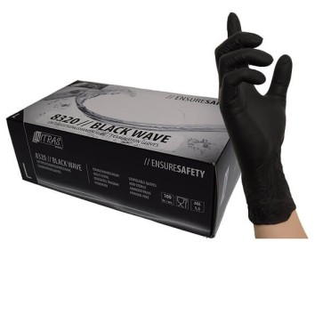 Friseurhandschuhe Nitril schwarz M